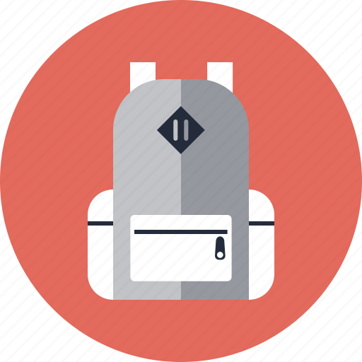 backpack, bag, baggage, carry, hiking, rucksack, supply, tourism, travel icon