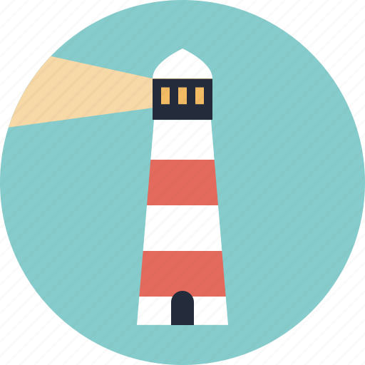 beacon, beam, direction, guidance, guide, light, lighthouse, location, navigation, safety, sailing, sea, sign, signal, tourism, travel icon