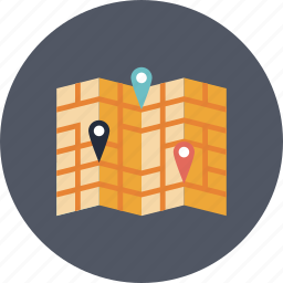 cartography, direction, gps, guidance, guide, label, location, map, mark, marker, navigate, navigation, pin, place, places, position, positioning, route, tourism, transportation, travel, trip icon