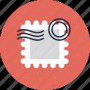 card, mark, postage, postal, postcard, stamp, tourism, travel icon