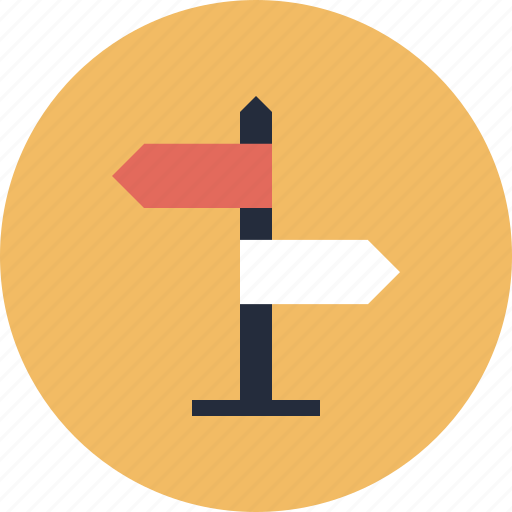 arrows, crossroad, crossroads, destination, direction, directional, guide, journey, location, map, navigate, navigation, pointer, post, road, roadsign, sign, signpost, street, tourism, travel icon