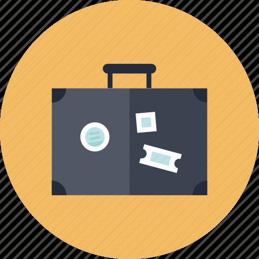 bag, baggage, briefcase, case, destination, journey, leisure, luggage, suitcase, tourism, tourist, travel, trip, vacation, voyage icon