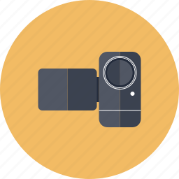 camcorder, camera, cinema, film, media, movie, record, recording, technology, video icon