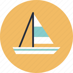 boat, holiday, sailboat, sailing, sea, ship, tourism, transportation, travel, vacation, vessel, yacht, yachting icon