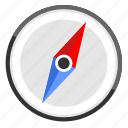compass, location, map, navigation icon
