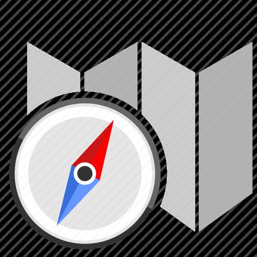 compass, map, navigation, tourism icon