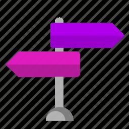 arrows, pointer, stand, tourism icon