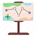 map, navigation, place, stand, tourism, way icon