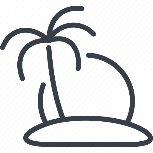 island, palm, tourism, travel icon