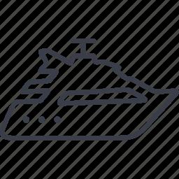 boat, cruise, sea, ship, tourism, travel, yacht icon