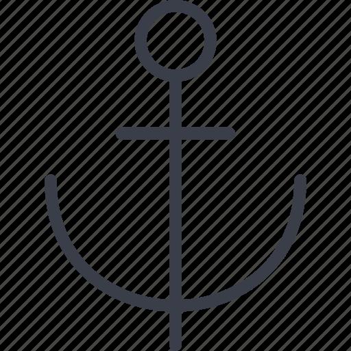 anchor, ocean, sea, ship, tourism, travel icon