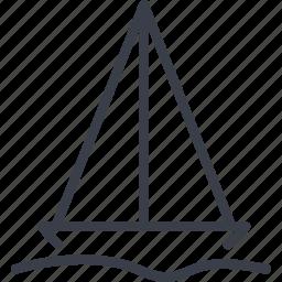 sailing ship, tourism, transportation, travel icon
