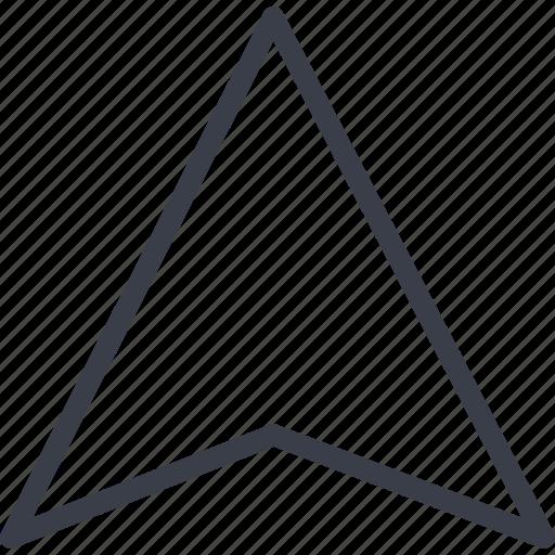 arrow, gps, navigation, tourism, travel icon