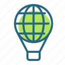balloon, entertainment, journey, transport icon