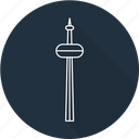 canada, cn, cn tower, tower icon
