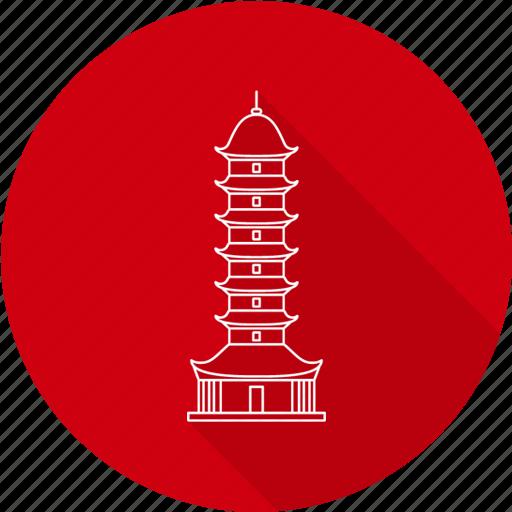 auspicious, auspicious light pagoda, china, light, pagoda icon
