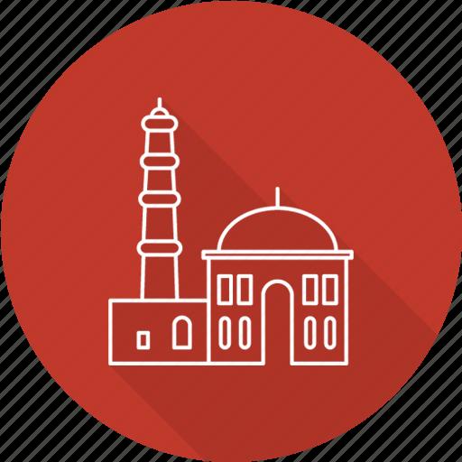 india, minar, qutb, qutb minar, tourism, travel icon