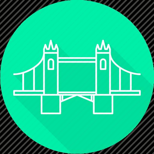 bridge, tower, tower bridge, uk icon