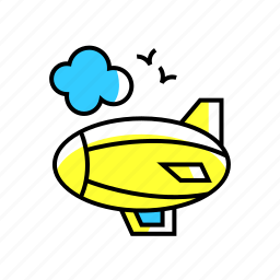 adventure, airship, blimp, fly, gas, travel icon
