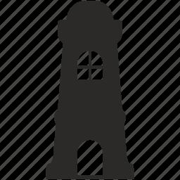 building, castle, classic, praha, tower icon