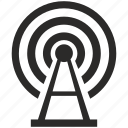 antenna, building, internet, radio, signal, tower, wireless icon