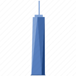 apartment, building, freedom tower, hotel, skyscraper, tower, world trade center icon