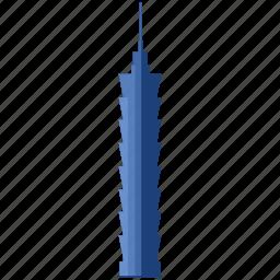 apartment, building, hotel, office, skyscraper, taipei, tower icon