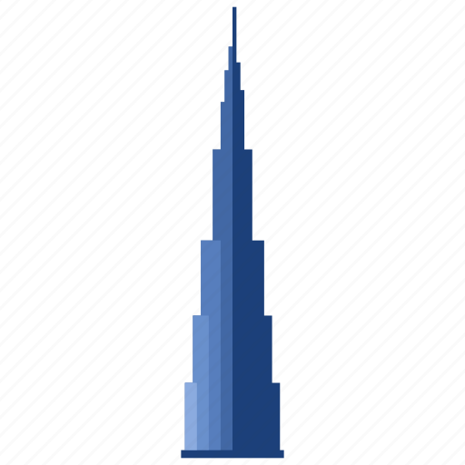 apartment, building, burj khalifa, hotel, office, skyscraper, tower icon