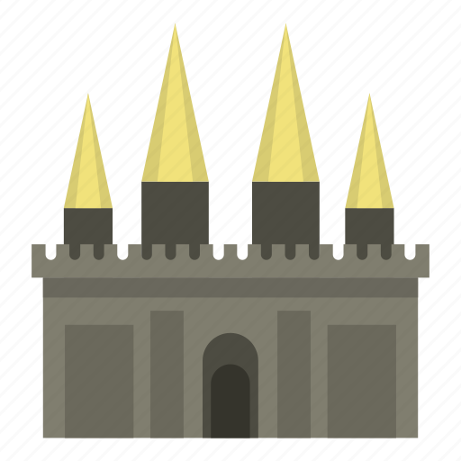 building, castle, medieval, old, palace, stone, tower icon