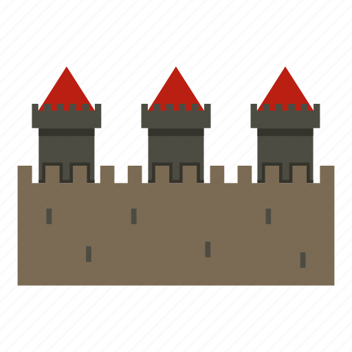 Ancient, building, castle, fortress, medieval, stone, tower icon - Download on Iconfinder