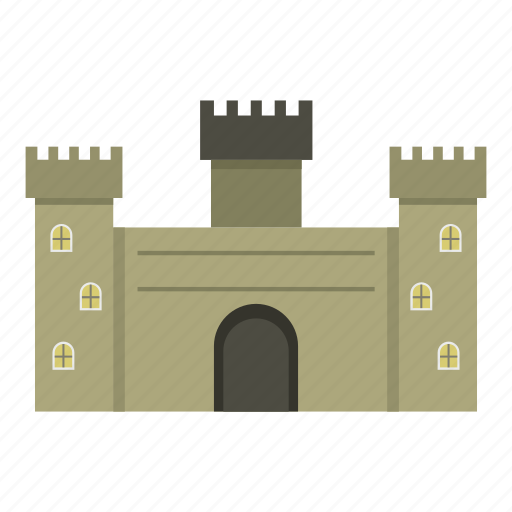 ancient, building, castle, fortress, medieval, stone, tower icon