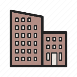 apartments, architecture, building, home, new, residential, town icon