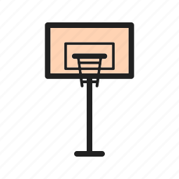 ball, basketball, court, goal, match, post, sports icon