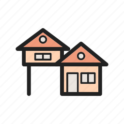 architecture, home, house, housing, pool, style, town icon