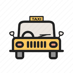 cab, city, taxi, town, traffic, transport, yellow icon