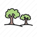 forest, green, park, season, town, trees, wood icon