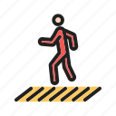 crossing, pedestrian, people, road, town, walk, zebra icon