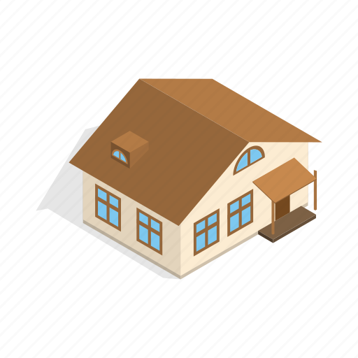 home, house, isometric, one, porch, residential, storey icon