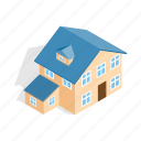 annexe, home, house, isometric, residential, storey, two icon