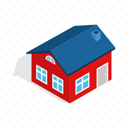 attic, construction, estate, home, house, isometric, residential icon