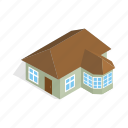 home, house, isometric, one, residential, storey, veranda icon