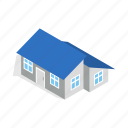 annexe, construction, estate, home, house, isometric, residential icon