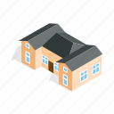 estate, home, house, isometric, outbuildings, residential, two icon