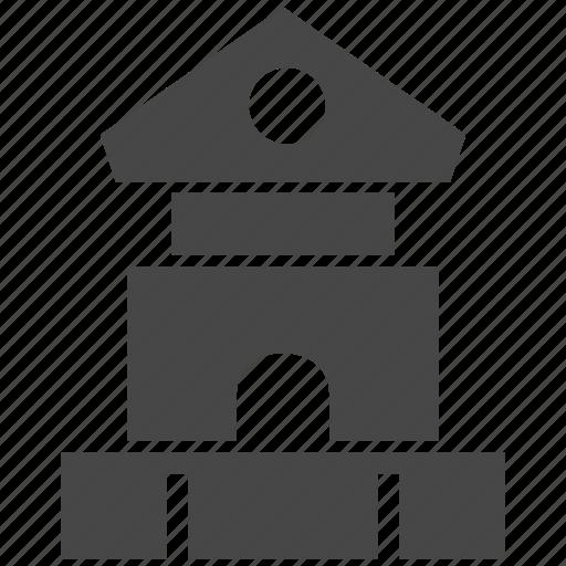 blocks, building, toy icon