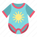 adorable, apparel, baby, birth, body, bodysuit, child icon