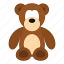 animal, baby, bear, bow, child, cuddly, stuffed icon