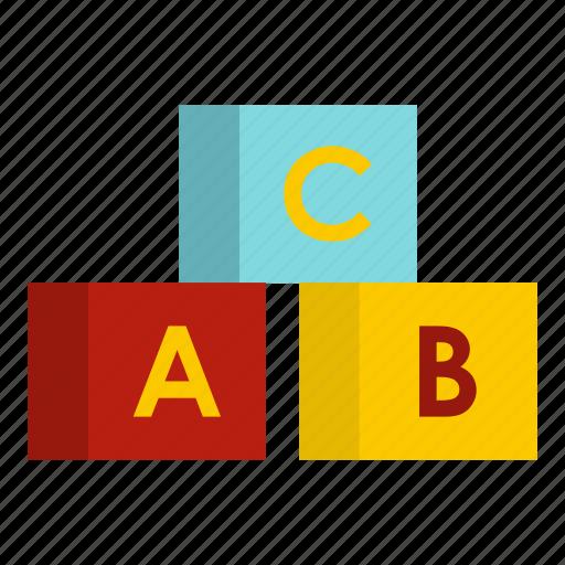 alphabet, baby, box, child, cube, school, toy icon