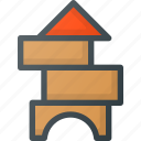 blocks, building, toy icon