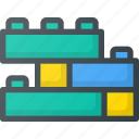 blocks, building, construction, cube, lego, toy icon