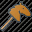 horse, toy icon